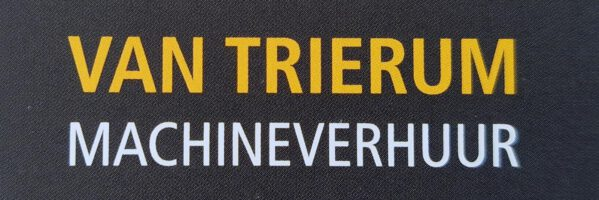 van Trierum machineverhuur